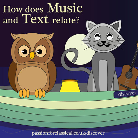 How does music and text relate?