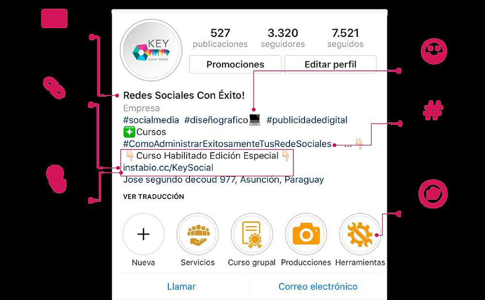 Imagen de configuración de instagram