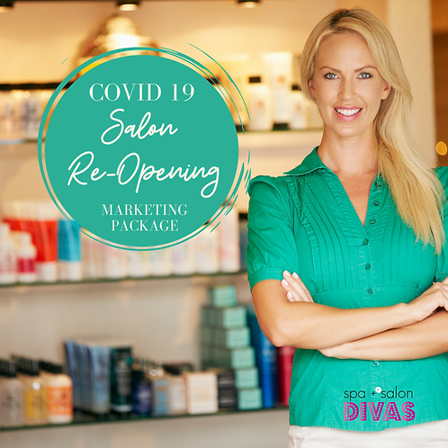 Covid 19 Salon Re-Opening Marketing Package