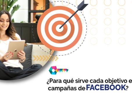 ¿Para qué sirve cada objetivo en las campañas de Facebook?
