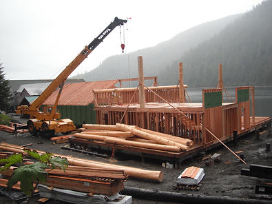 noyes island resort steamboat bay lodge remote construction