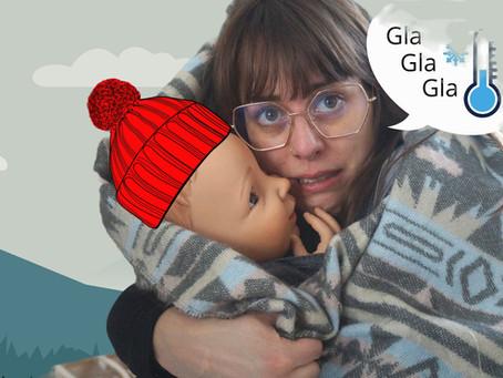 Porter bébé en hiver