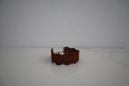 <予約商品>レースのブレスレット camel  brown
