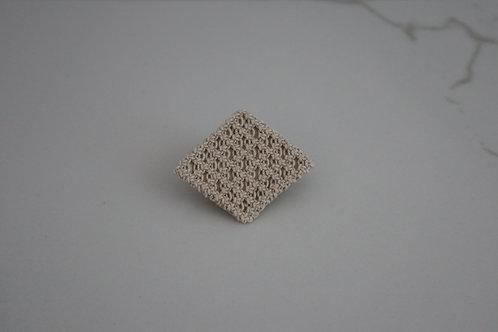 <予約商品>幾何学のヘアクリップ・しかく ecru