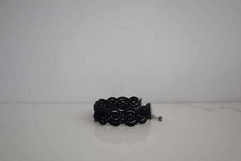 レースのブレスレット その2 bellflower navy and black purple