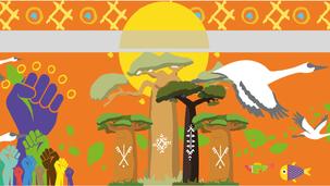 Fresque Participative - Les symboles de la goutte d'or