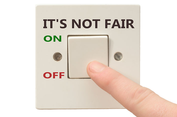 Turning off It's not fair with finger on