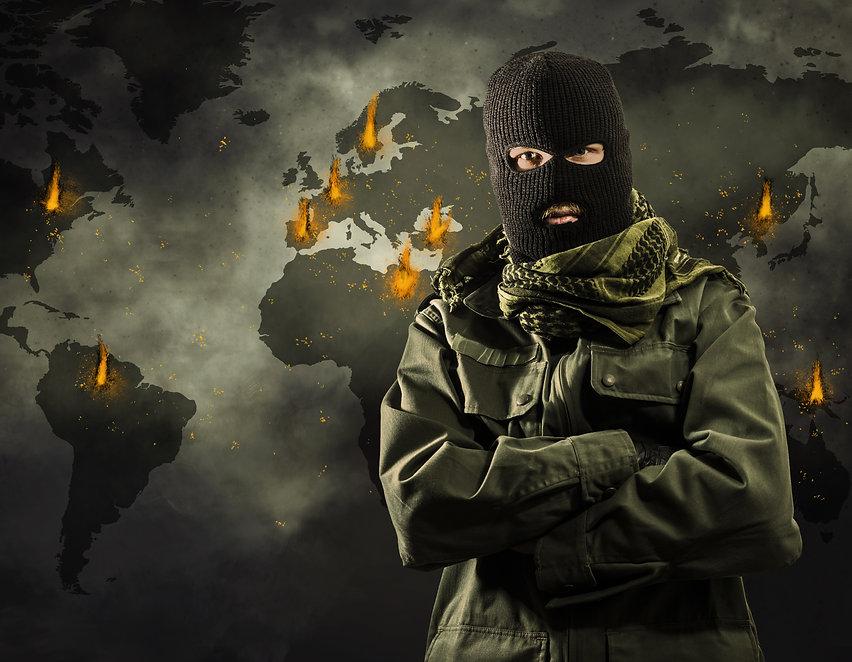 Global worldwide terrorism explosions on