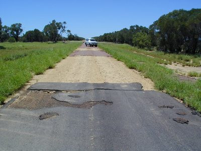 REPAIRING FLOOD DAMAGED ROADS