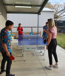 Table Tennis at the Barcaldine Office