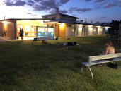 Outdoor Cinema at the Barcaldine office