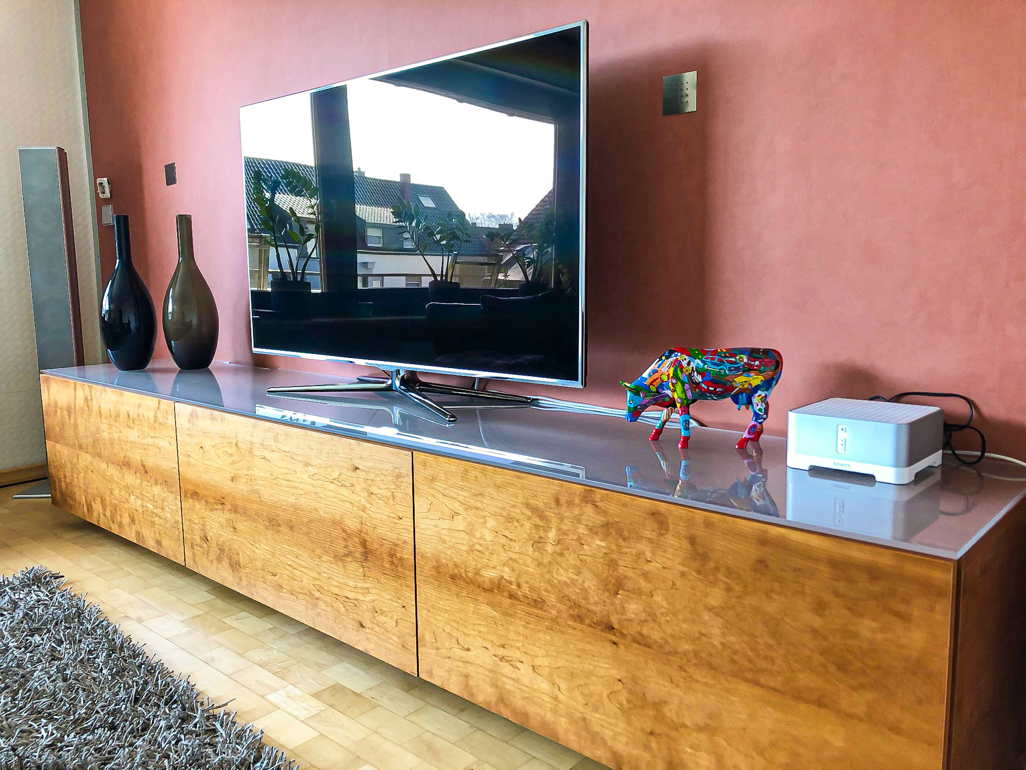 TV Sideboard in Kirschbaum