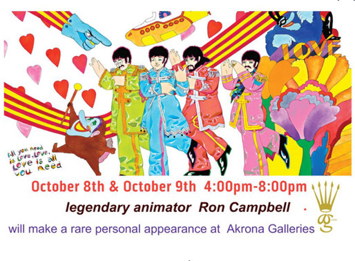 Akrona Gallery: Ron Campbell, Beatles Animator Appearance, October  8-9