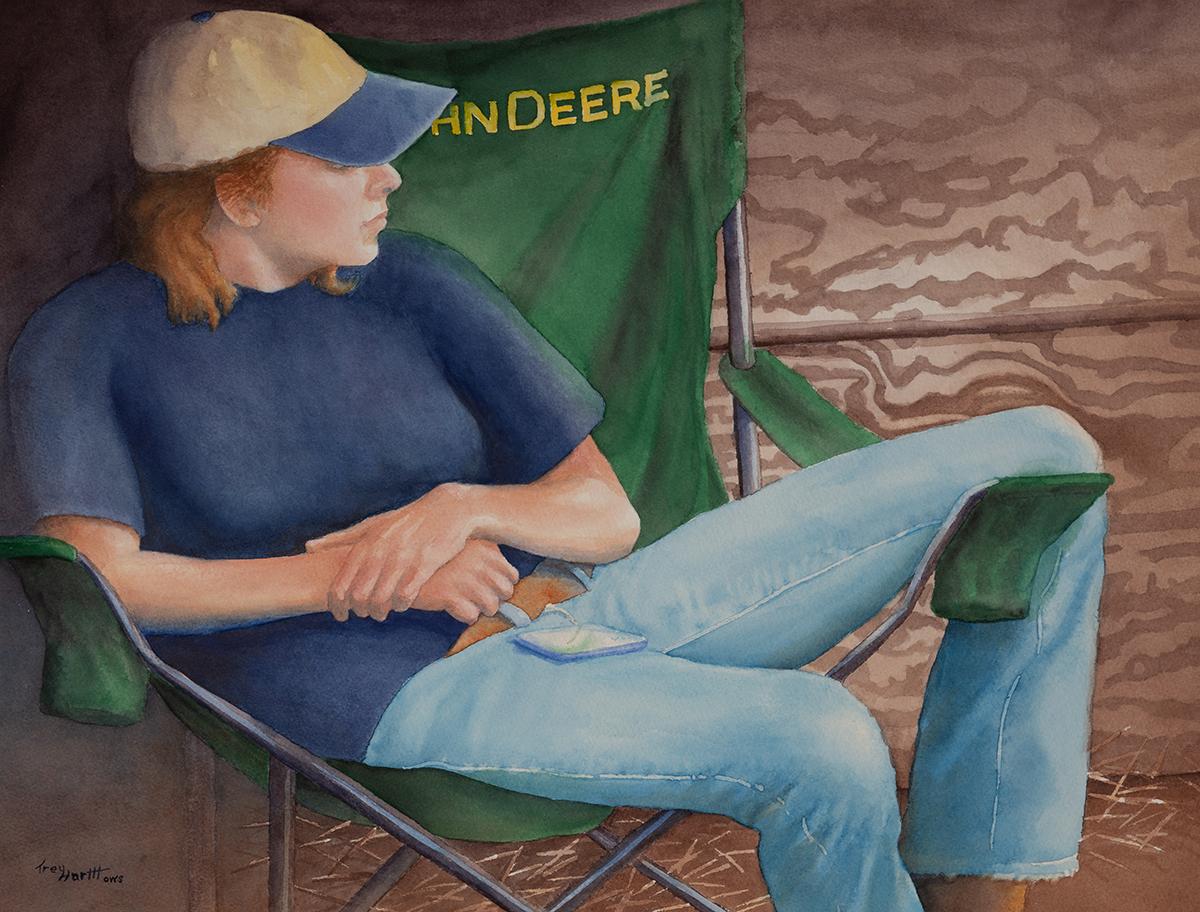 Girl in the John Deere Chair