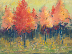 Autumn's Glow, Pastel