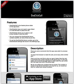One Click Call App Page