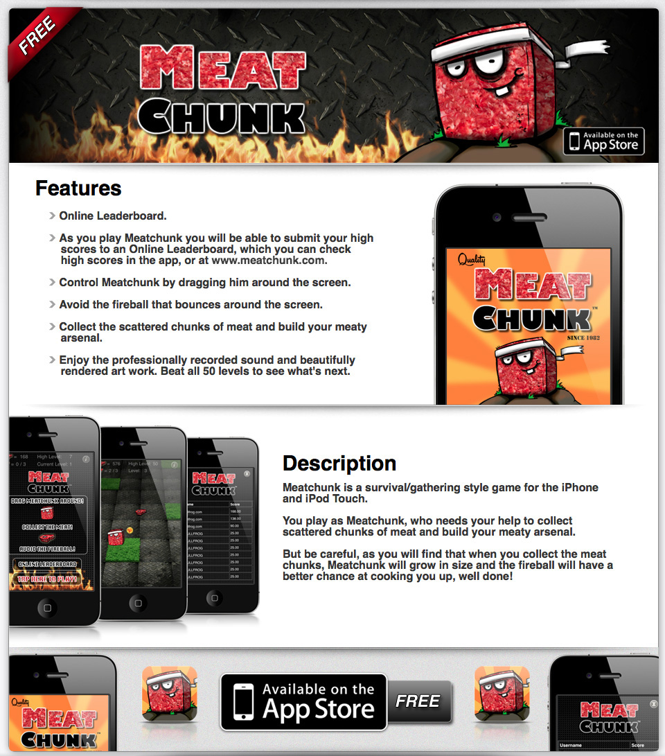 Meat Chunk App Page