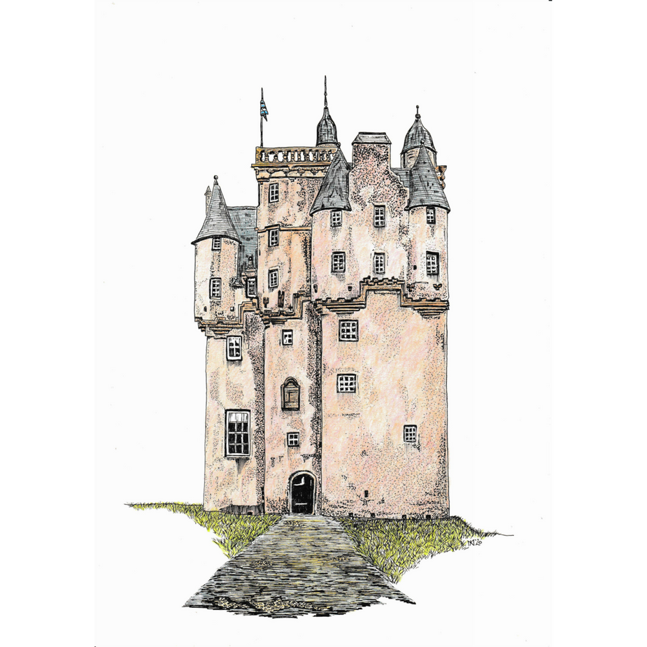 Craigievar Castle in colour