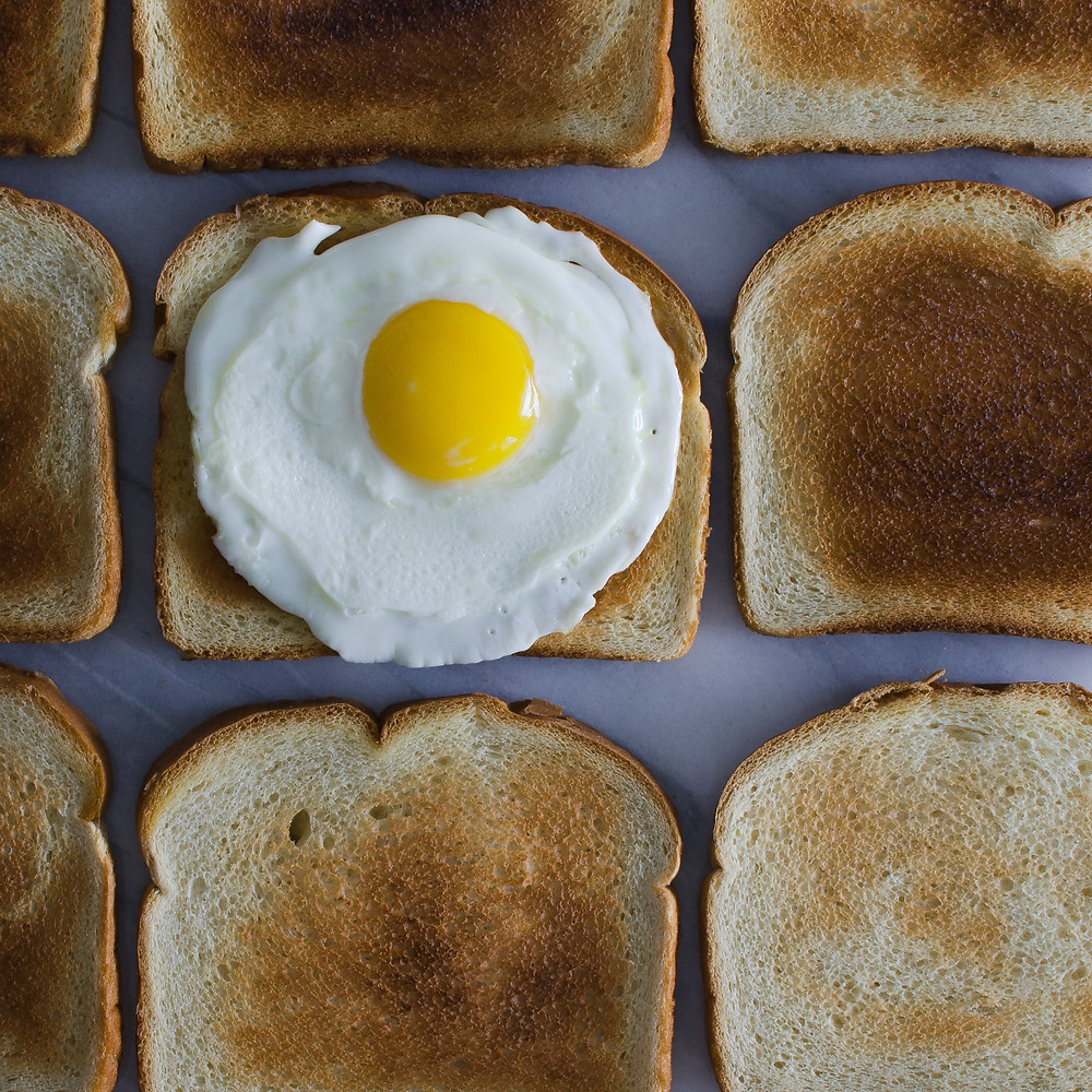 Toast With A Sunny Side Up Egg