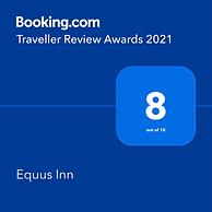 Booking.com Traveller Review Awards 2021 - Equus Inn