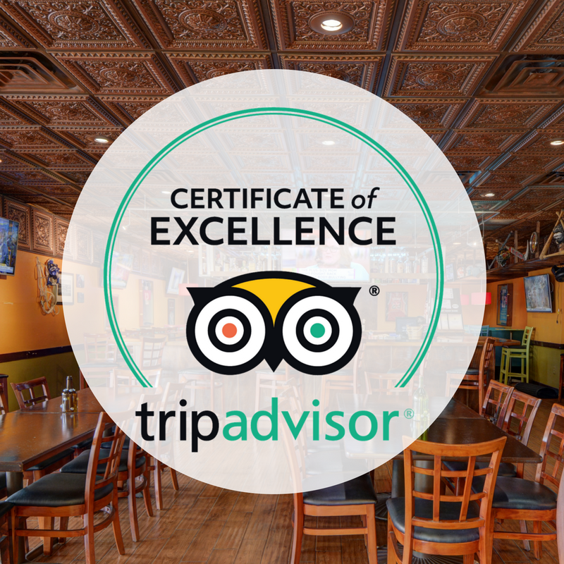 JJ's Sports Bar and Grille Certificate of Excellence