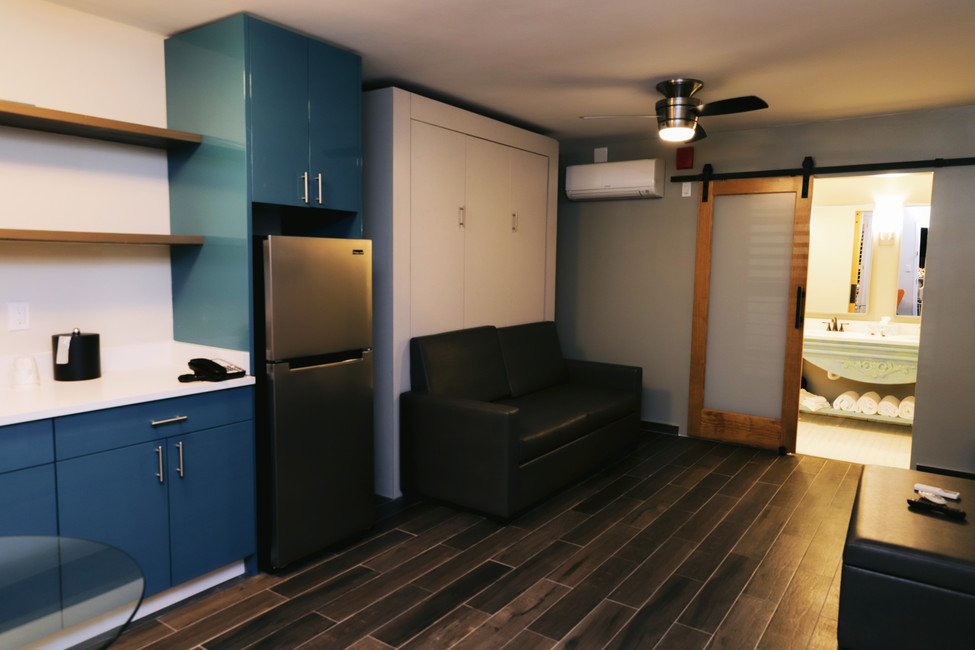 Suites Offer Living Areas With Full Kitchenettes & Extra Bathroom