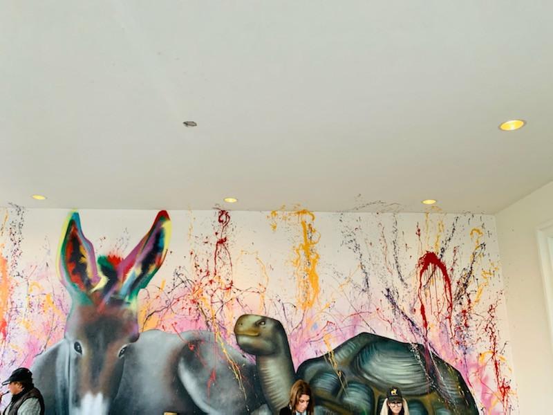 Mural at World Equestrian Center in Ocala Florida