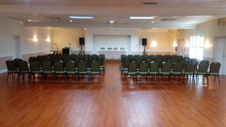 Banquet Hall Theatre Setup