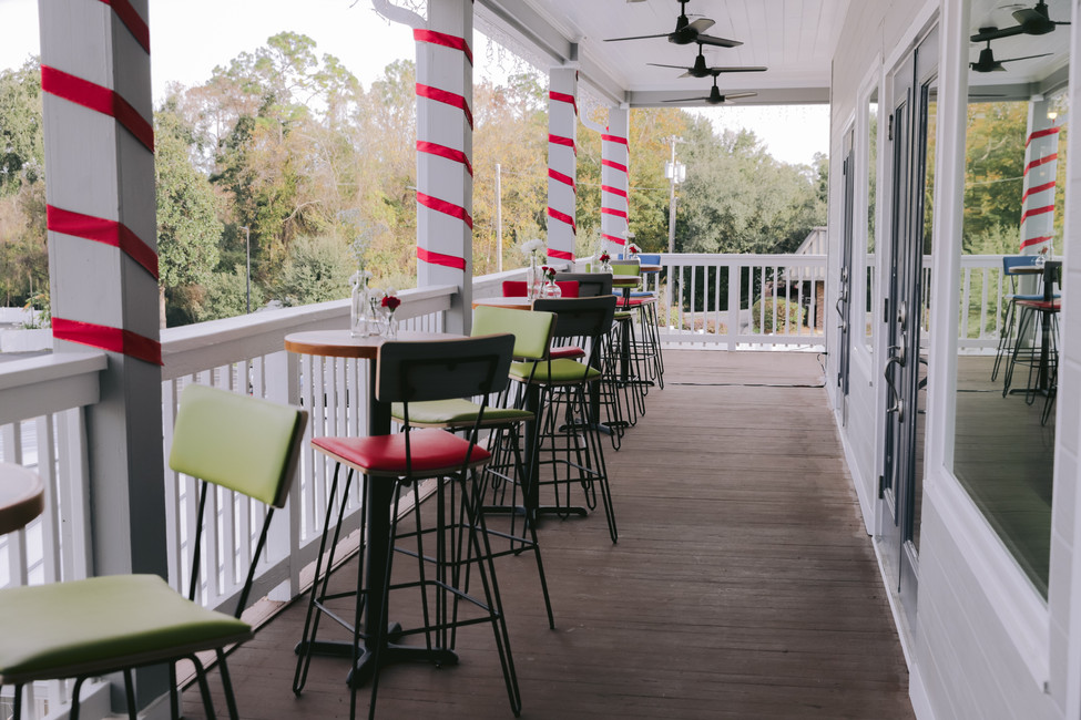 Bar Top Tables On Our Huge Wrap Around Porch