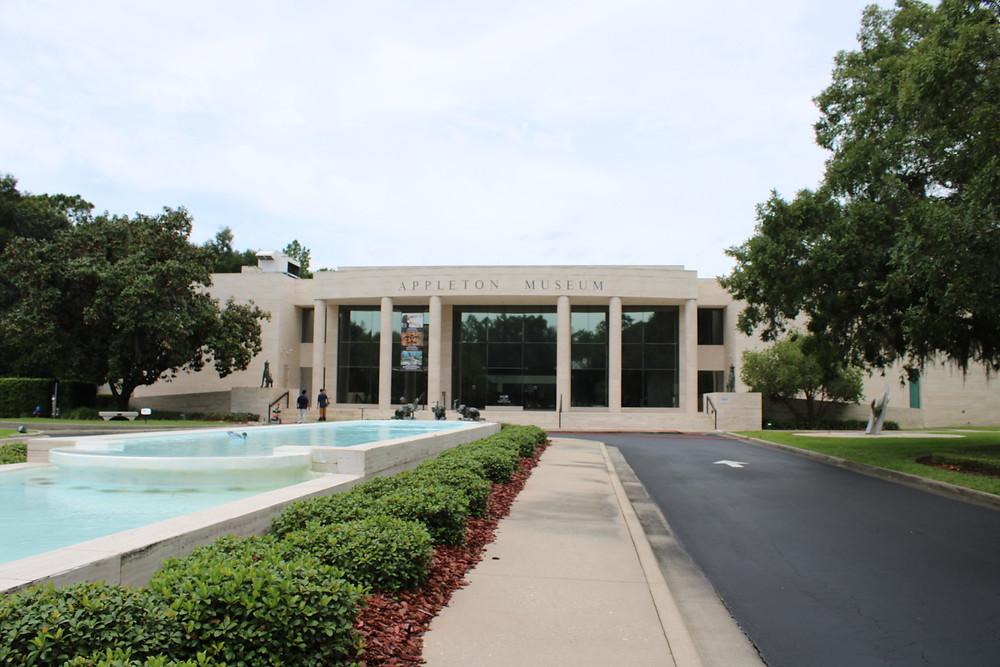 Courtyard of the Appleton Museum of Art in Ocala, FL