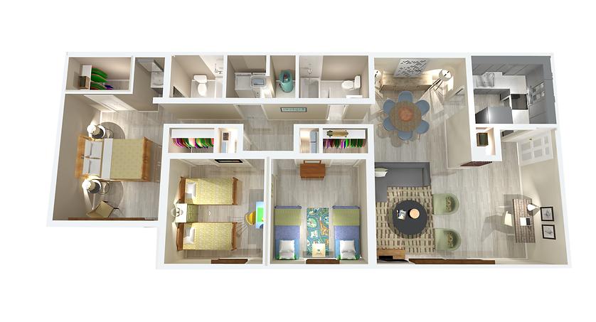 1300 sqft 3 bedroom 2 bathroom apartments