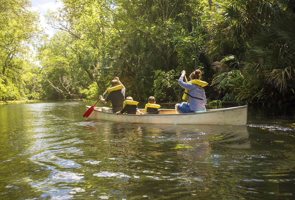 Family Canoeing
