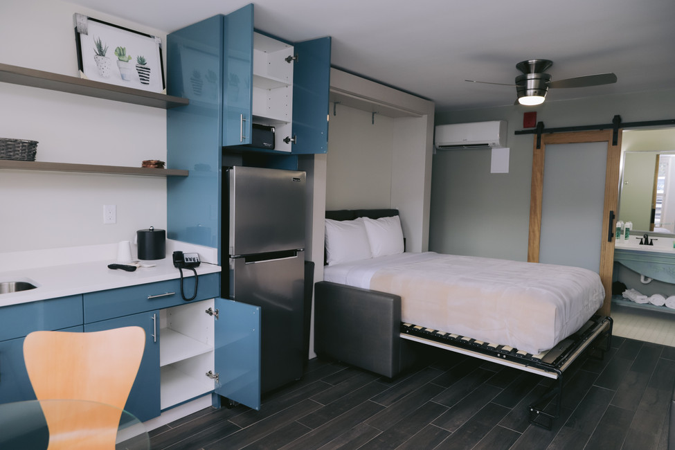 Fold Down Murphy Bed When You're Ready To Catch Some Zs