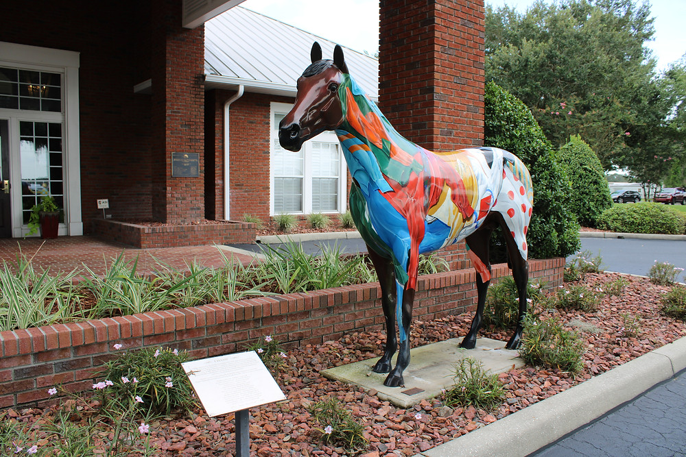Painted Horse Statue in Ocala, FL