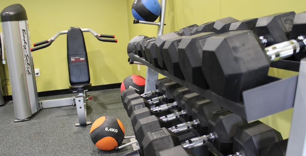 Gym - Free Weights Machine Med Balls.JPG