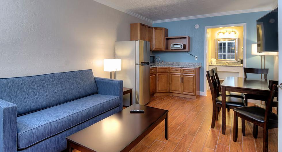 Living, Dining, & Kitchenette Side