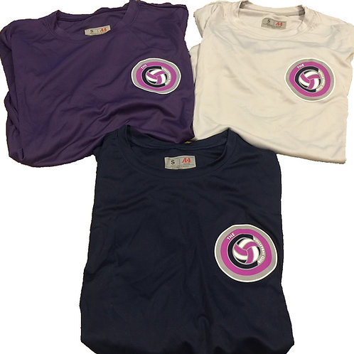 A4 - Mens/Womens dri-fit Tee (Navy/Purple/Silver)