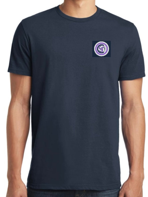 District - Mens S/S Tee (Navy/Purple/Lt Blue)