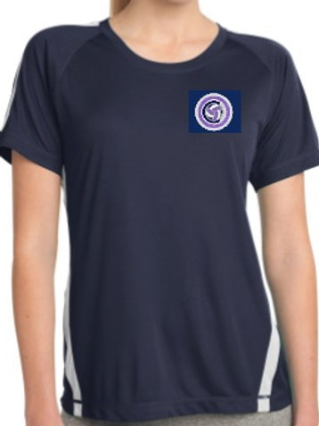Sport-Tek - Womens dri-fit Colorblock Tee (Navy/White)