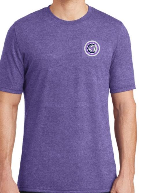 District - Mens TriCrew Tee (Purple/Navy)