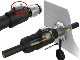 LOCKED PUSH-PULL connector