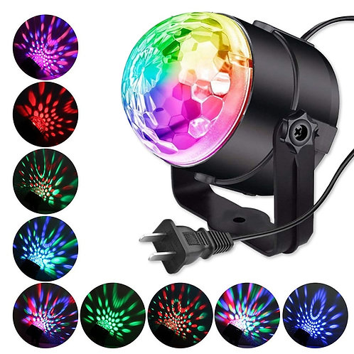 Sound Activated Rotating Disco Ball Laser Light Projector Lamp