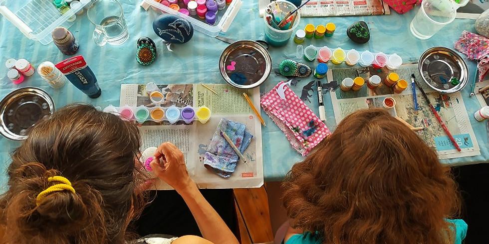 אבני אור - סדנת דוט-ארט - ציור בנקודות - להורים וילדים (מגיל 9)