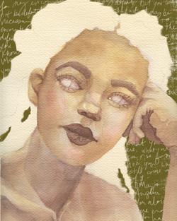 Contemplation Watercolor