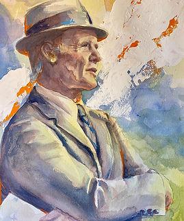 Tom Landry Portrait