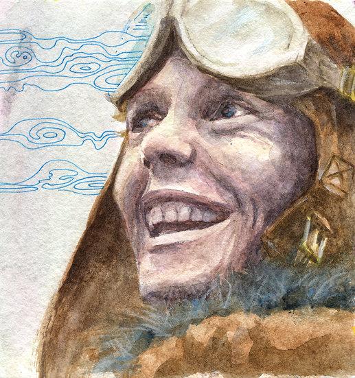 Amelia May Earhart Portrait