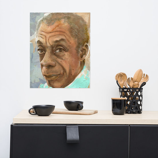 James Baldwin print