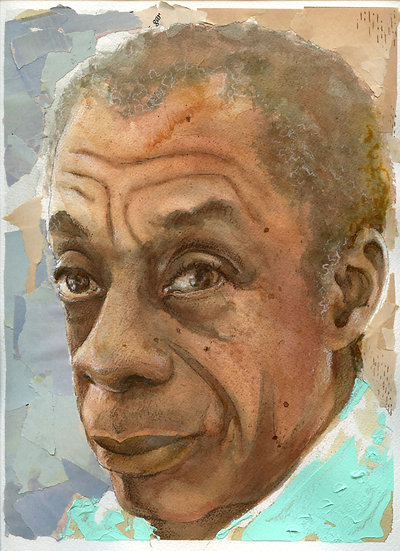 James Baldwin Portrait