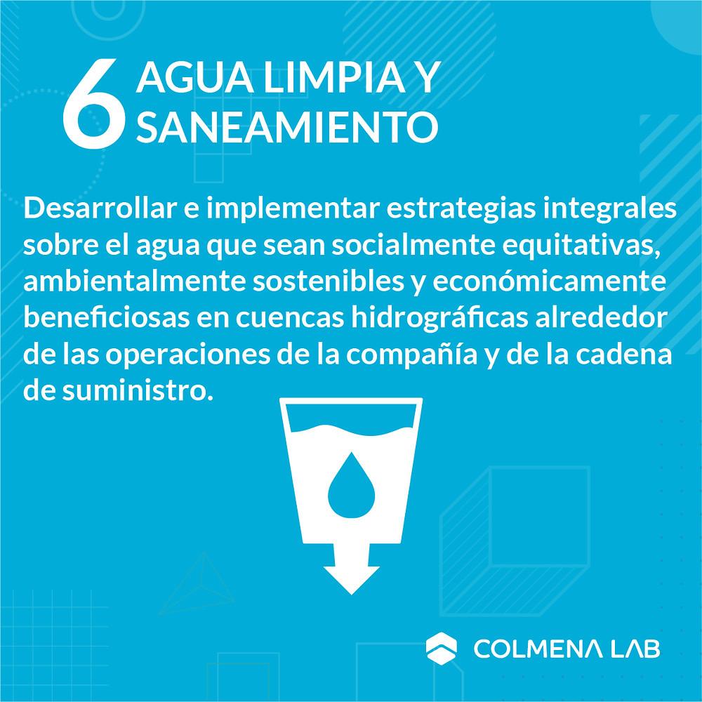 Objetivo de desarrollo sostenible 6 Agua Limpia y Saneamiento