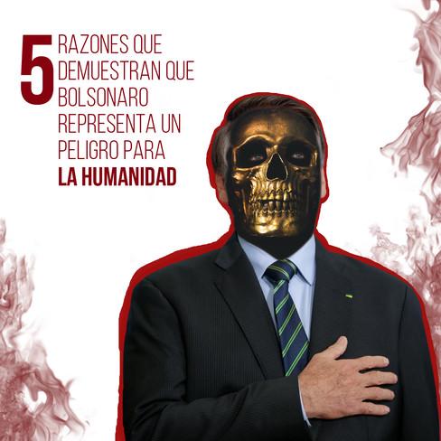 Arte para medios sociales sobre el Jair Bolsonaro